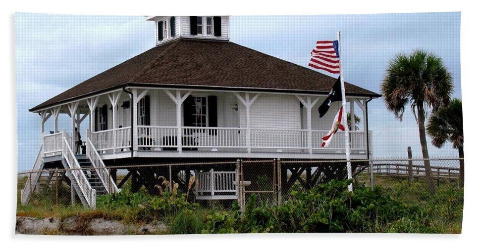 Florida Bath Sheet featuring the photograph Port Charlotte Harbor Lighthouse by Ian MacDonald