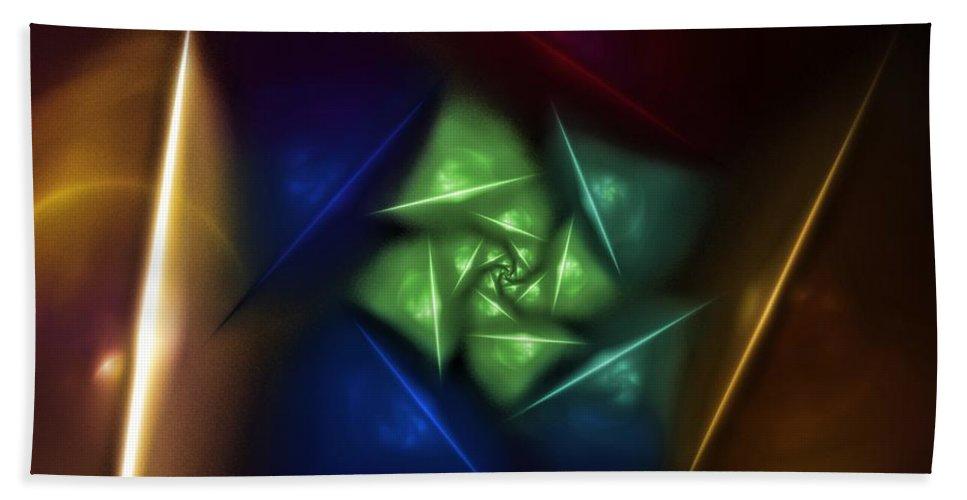 Digital Painting Bath Sheet featuring the digital art Portal 2 by David Lane