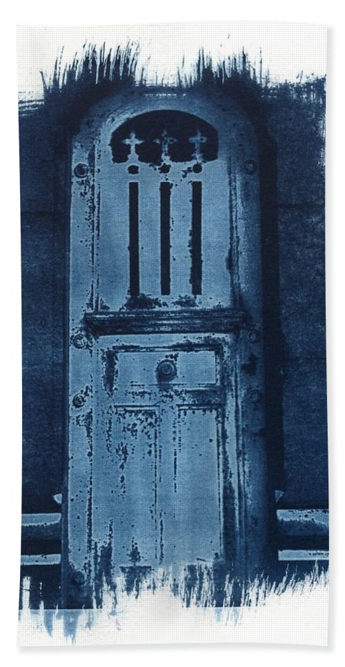Cyanotype Hand Towel featuring the photograph Portals by Jane Linders