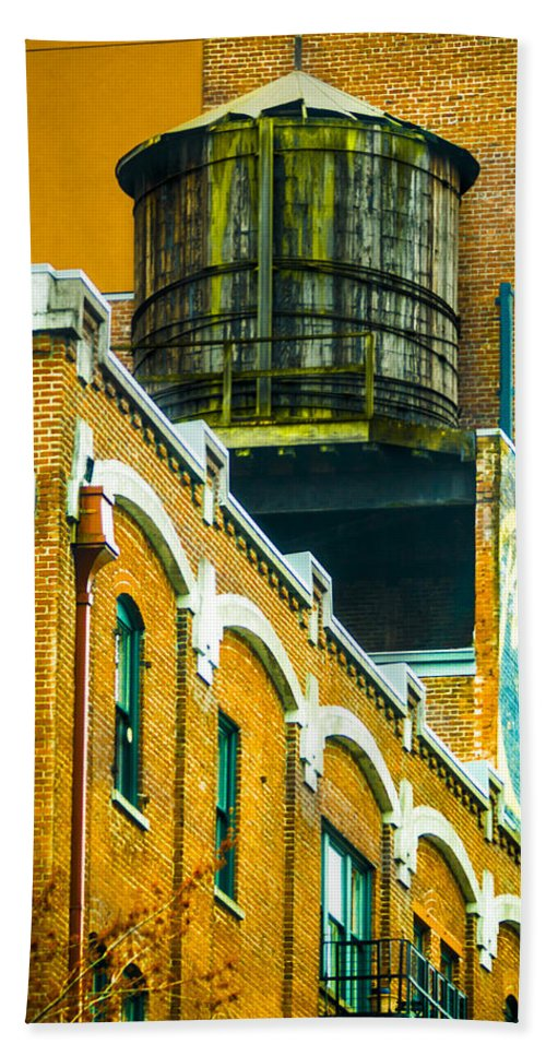 Rooftop Bath Sheet featuring the photograph Portland Water Tower II by Albert Seger