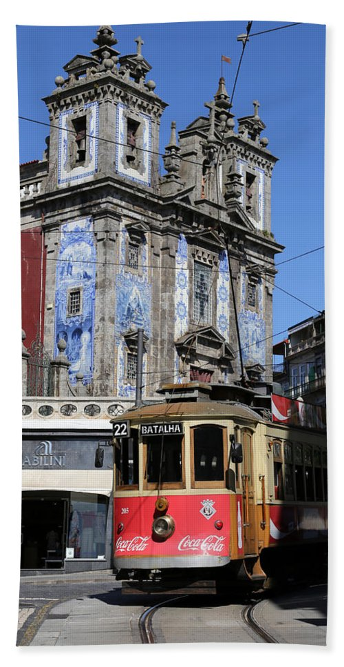 Trolley Hand Towel featuring the photograph Porto Trolley 1 by Andrew Fare