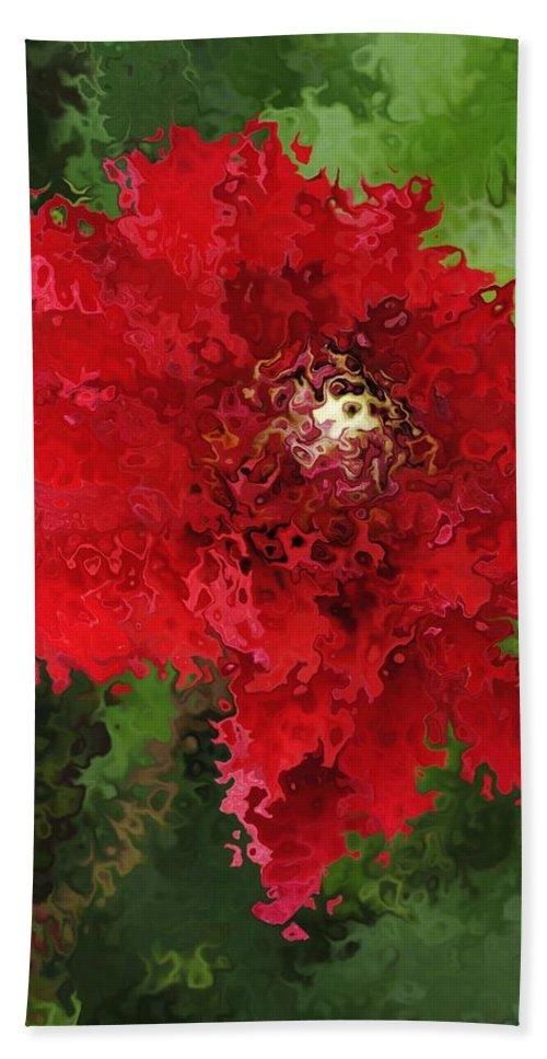 Bath Sheet featuring the mixed media Portrait Of A Flower by Kathleen Sartoris