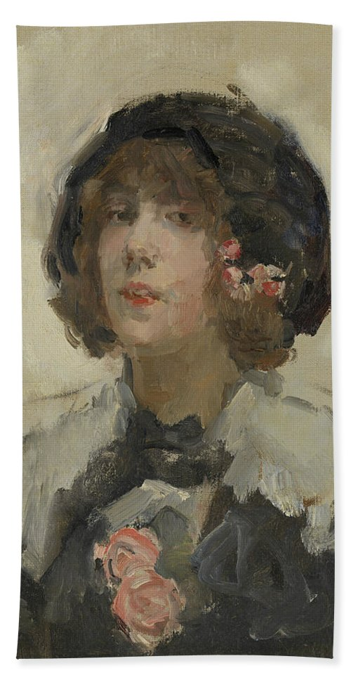 19th Century Painters Bath Sheet featuring the painting Portrait Of A Woman by Isaac Israels