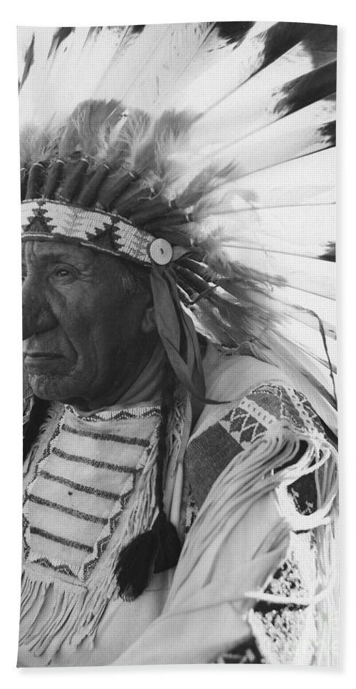 Oglala Lakota Bath Sheet featuring the photograph Portrait Of Chief Red Cloud by Stocktrek Images