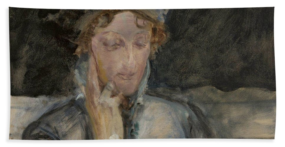 19th Century Art Hand Towel featuring the painting Portrait Of Maria Bal by Jacek Malczewski