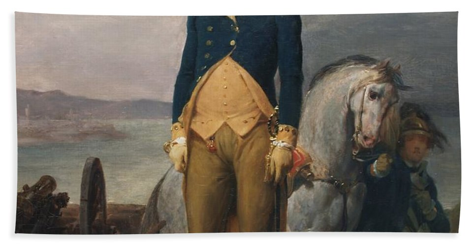 Léon Cogniet George Washington Hand Towel featuring the painting Portrait Of Washington by George Washington