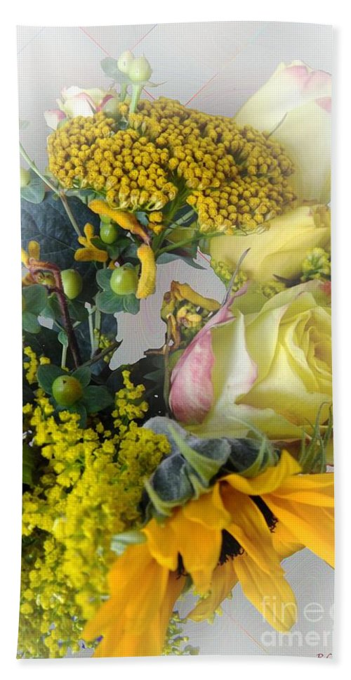 Bouquet Bath Sheet featuring the photograph Posies Picturesque by RC DeWinter