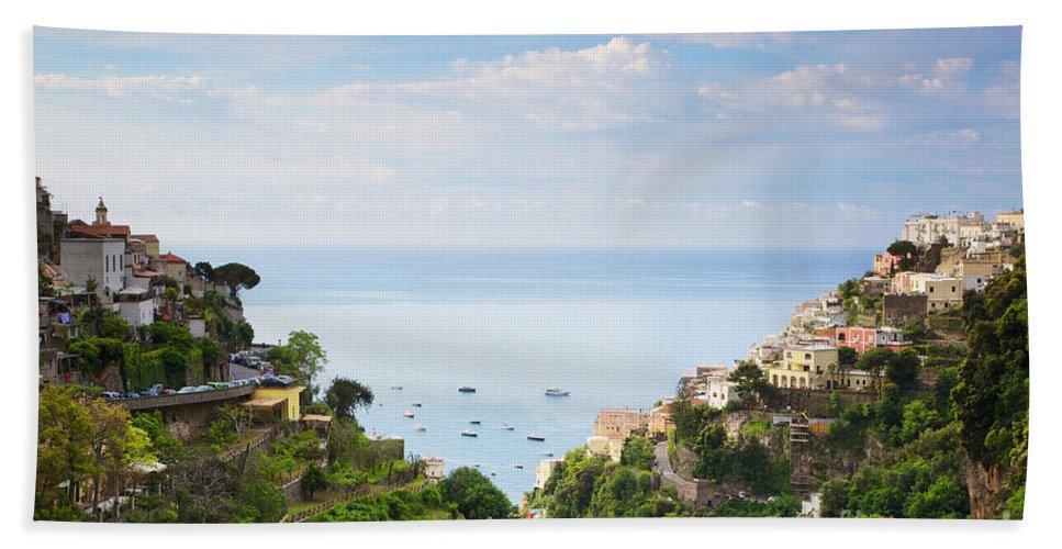 Amalfi Coast Bath Sheet featuring the photograph Positano Italy by Daryl L Hunter