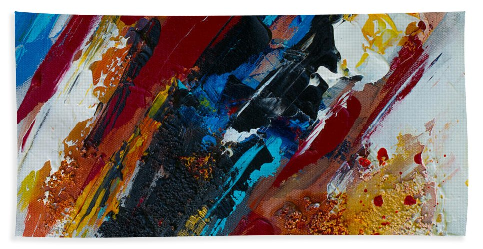 Acrylic Hand Towel featuring the painting Positive Energy by Elise Palmigiani