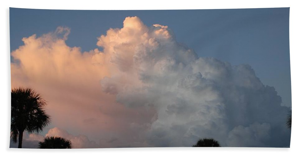 Clouds Hand Towel featuring the photograph Post Card Clouds by Rob Hans