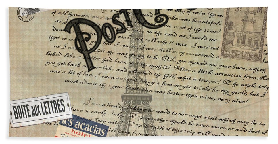Postcards Bath Towel featuring the photograph Postcards From Paris by Bill Cannon