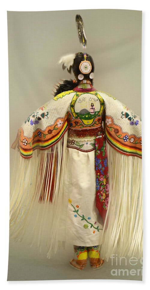 Pow Wow Bath Sheet featuring the photograph Pow Wow Traditional Dancer 3 by Bob Christopher