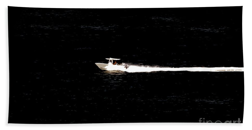 Power Boating Hand Towel featuring the photograph Power Boating by David Lee Thompson