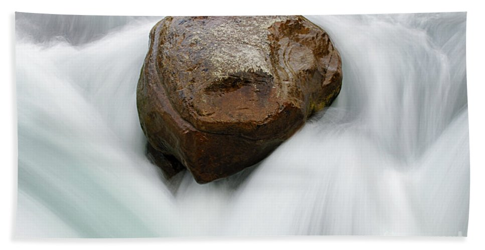 River Bath Sheet featuring the photograph Resistance by Bob Christopher