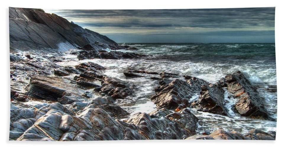 Atlantic Hand Towel featuring the photograph Power Of The Atlantic by Rob Hawkins