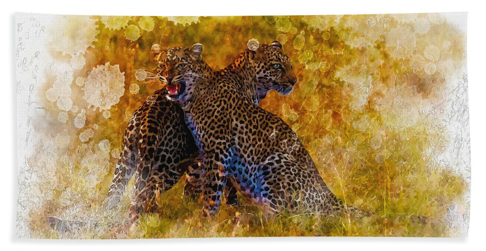 Art & Collectibles Bath Sheet featuring the digital art Power Strength And Beauty. by Don Kuing