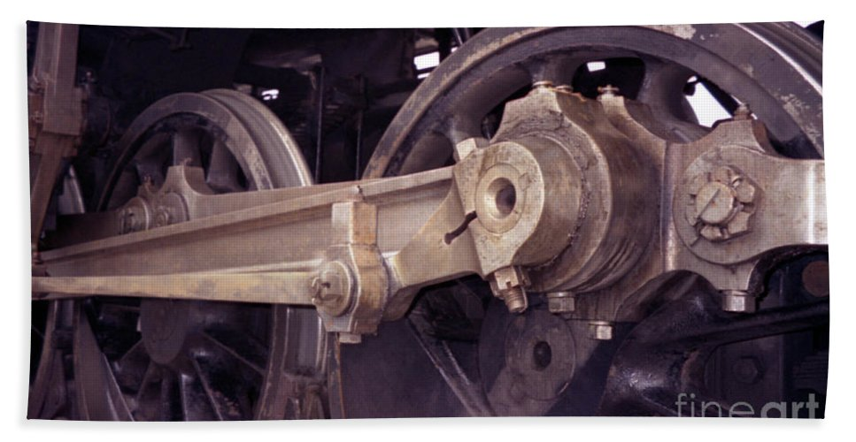 Trains Hand Towel featuring the photograph Power Train by Richard Rizzo