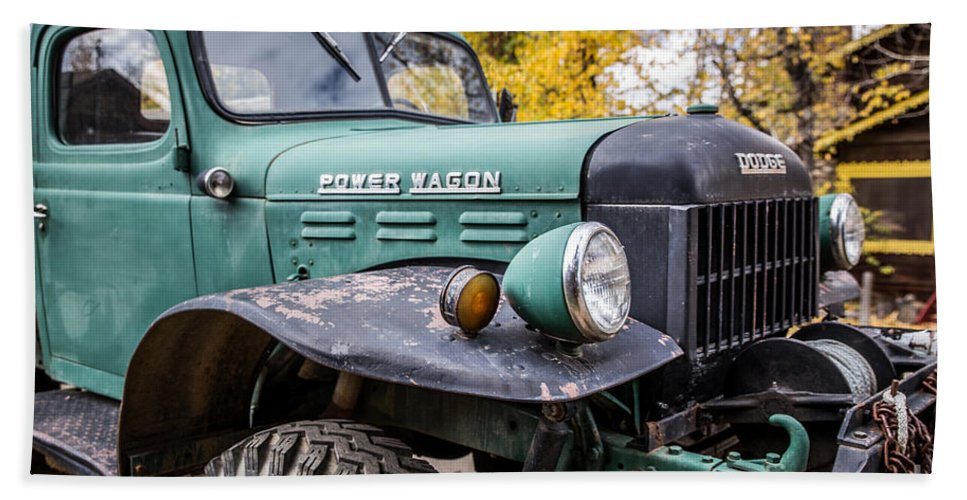 Power Wagon Hand Towel featuring the photograph Power Wagon by Lynn Sprowl
