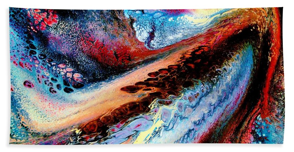 Energy Bath Sheet featuring the painting Powerful Force by Natalie Holland
