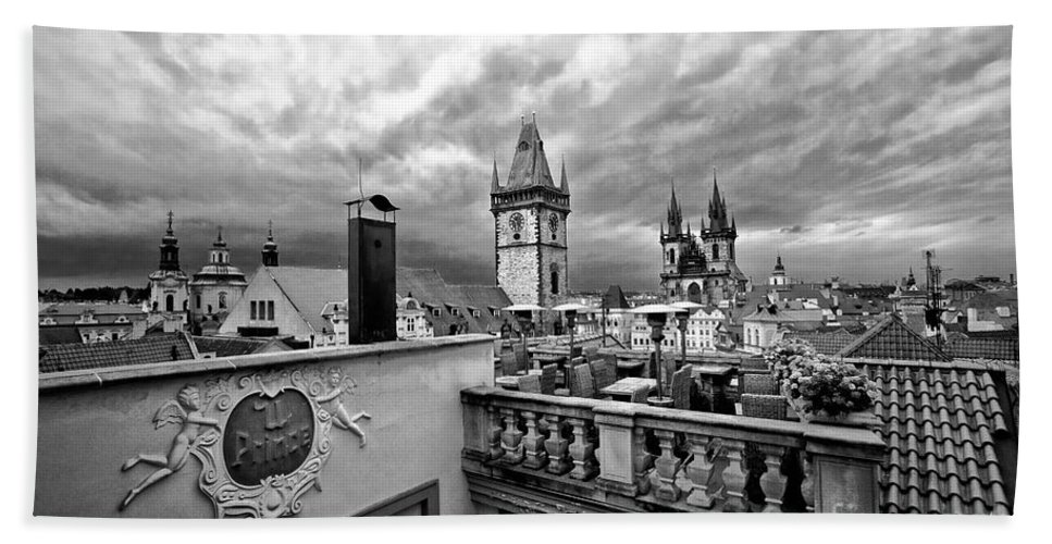 Prague Hand Towel featuring the photograph Prague View From The Top by Madeline Ellis