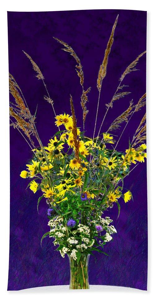 Flowers Bath Sheet featuring the photograph Prairie Bouquet by Steve Karol