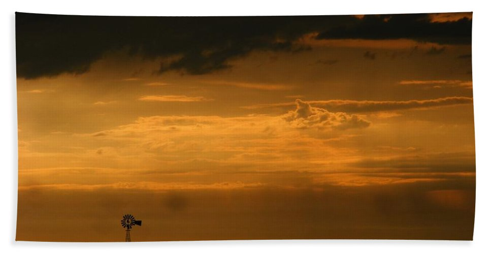 Storms Bath Sheet featuring the photograph Prairie Storm by Marilyn Smith