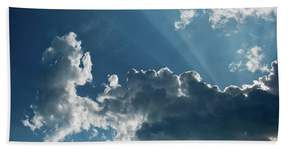 Clouds Hand Towel featuring the photograph Prayer Cloud by MotionOne Studios