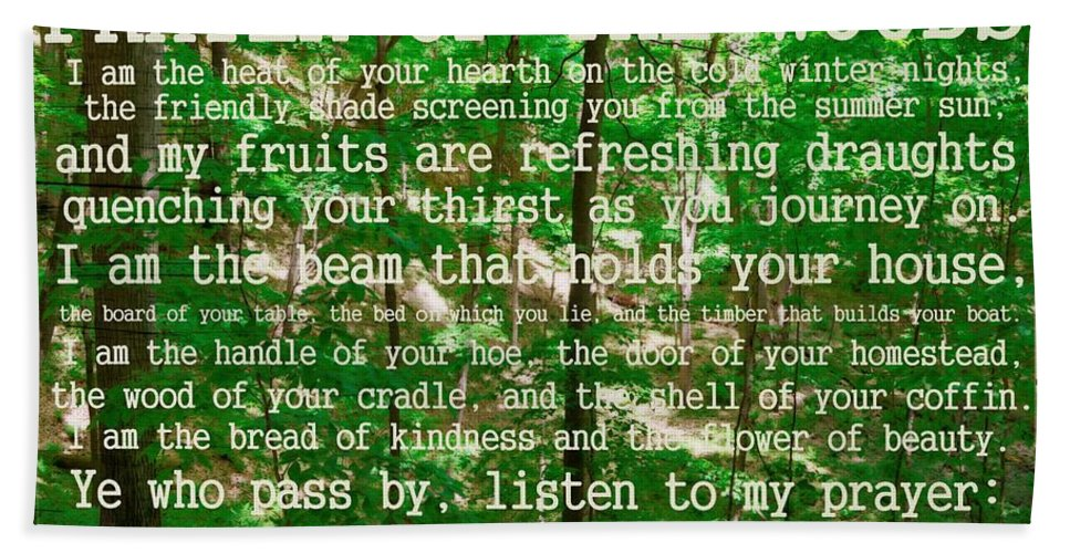 Prayer Hand Towel featuring the photograph Prayer Of The Woods 2.0 by Michelle Calkins