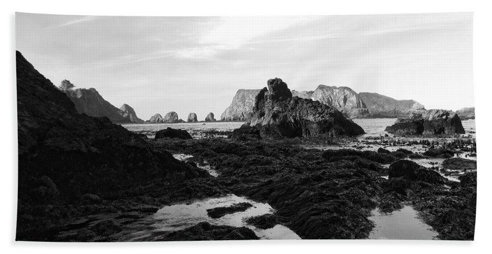 Ocean Hand Towel featuring the photograph Prehistoric Land by Donna Blackhall