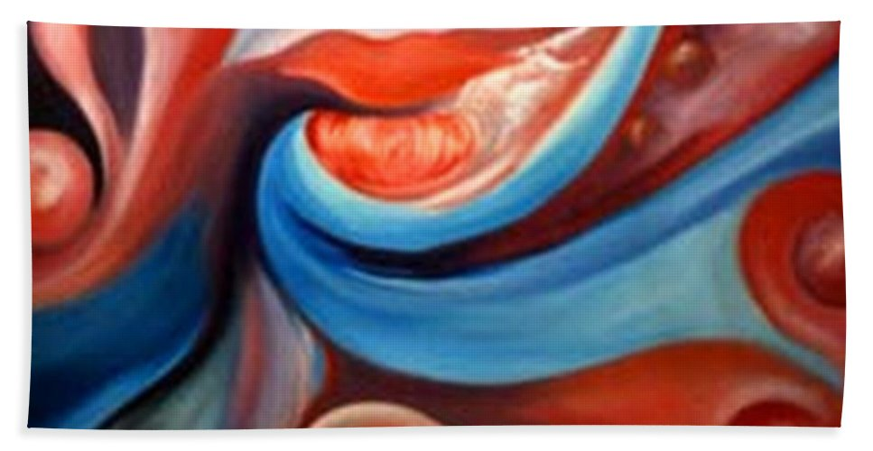 Musicf Art Hand Towel featuring the painting Prelude To A Kiss by Jordana Sands
