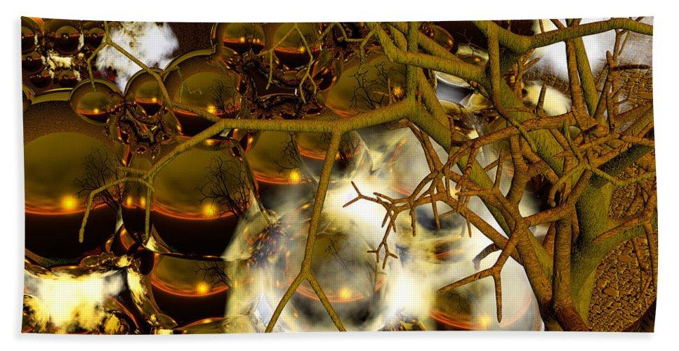 Sphere Bath Sheet featuring the digital art Premonitions- by Robert Orinski
