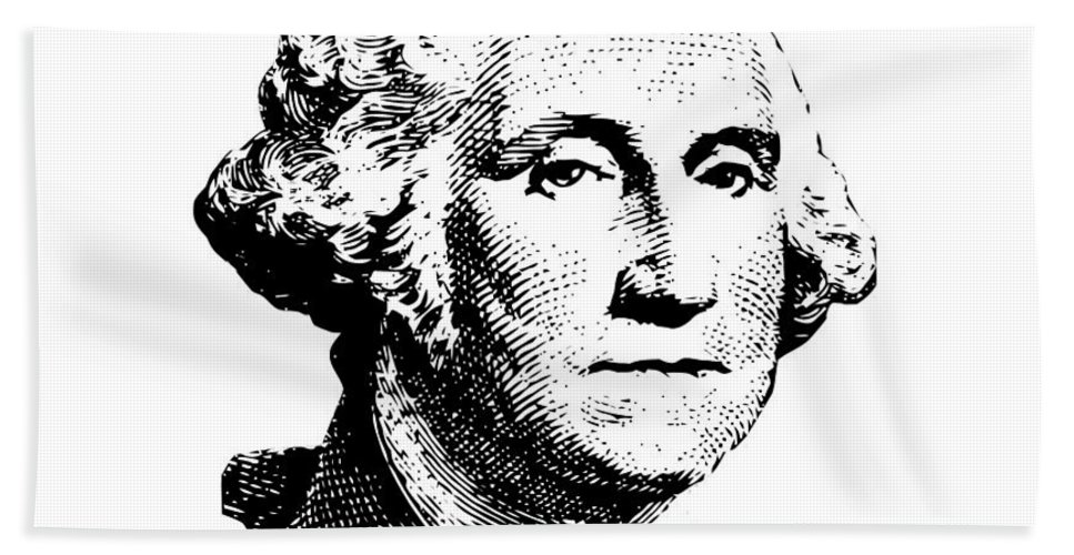 General George Washington Hand Towel featuring the digital art President Washington by War Is Hell Store