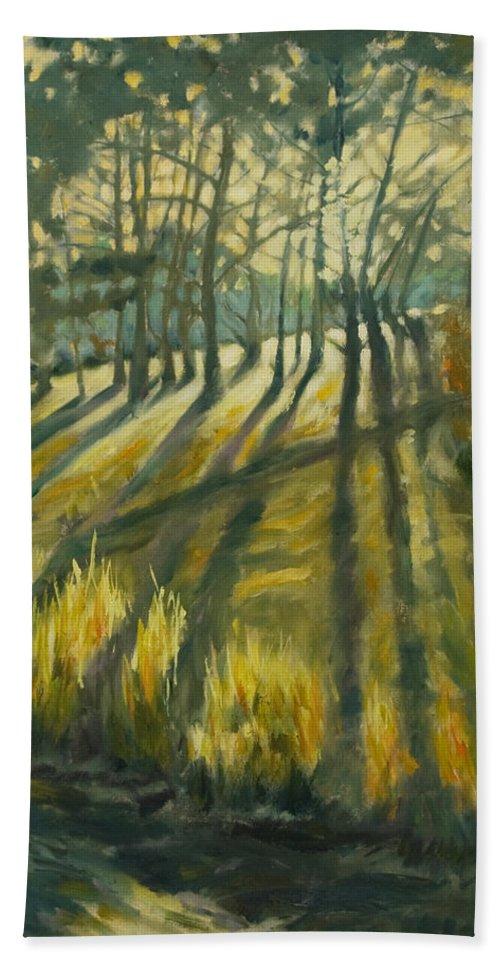 Trees Bath Towel featuring the painting Presidio by Rick Nederlof