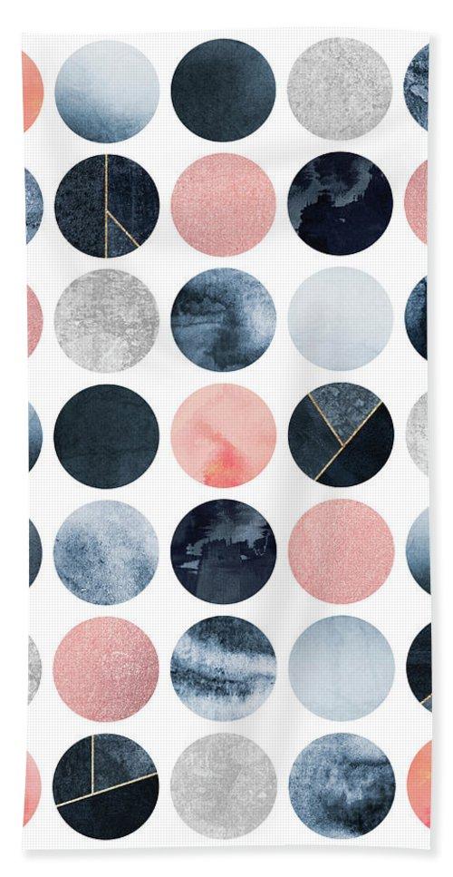 Graphic Bath Towel featuring the digital art Pretty Dots by Elisabeth Fredriksson