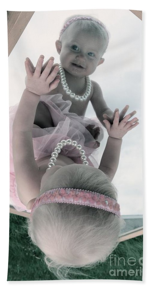 Pink Hand Towel featuring the photograph Pretty In Pink by Trish Hale
