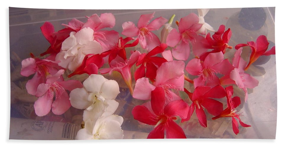 Pretty Hand Towel featuring the photograph Pretty Little Flowers by Usha Shantharam