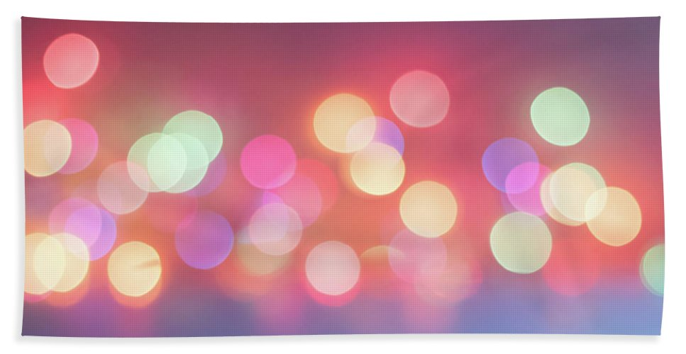 Terry D Photography Hand Towel featuring the photograph Pretty Pastels Abstract by Terry DeLuco