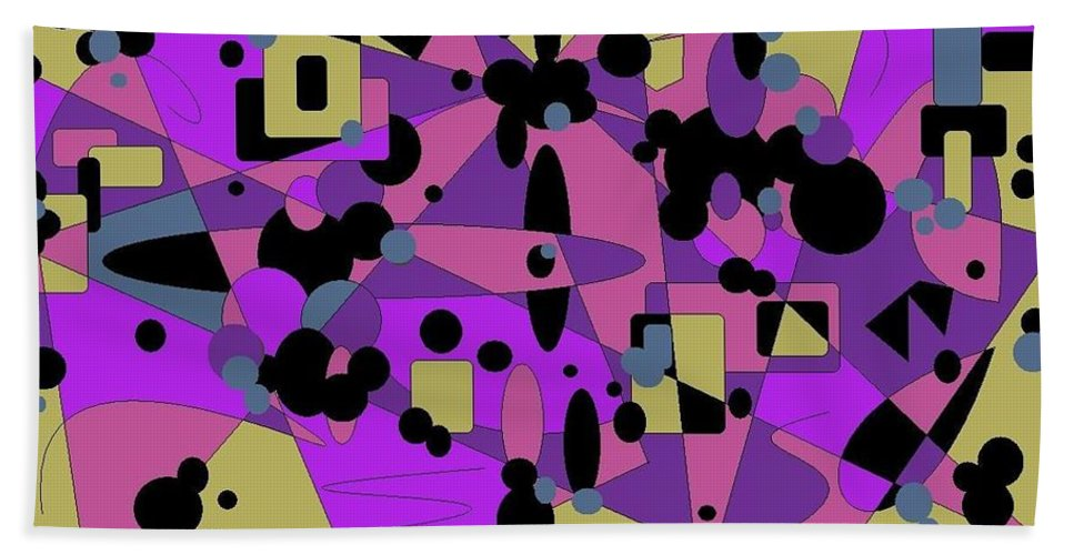 Digital Abstract Bath Towel featuring the digital art Pretty Picture by Jordana Sands