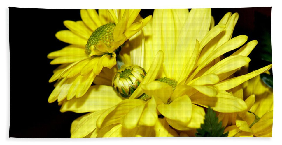 Flowers Bath Sheet featuring the photograph Pretty Yellow Flowers by Ericamaxine Price