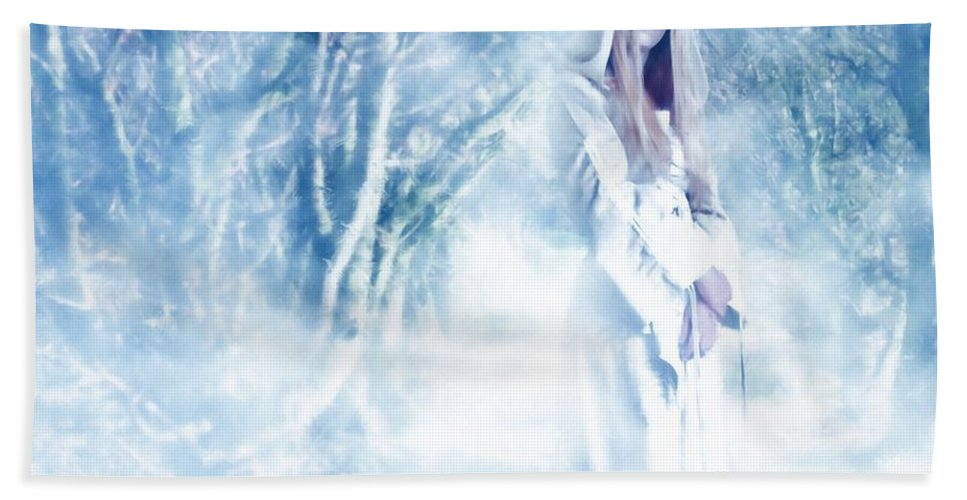Woodland Bath Towel featuring the photograph Priestess by John Edwards