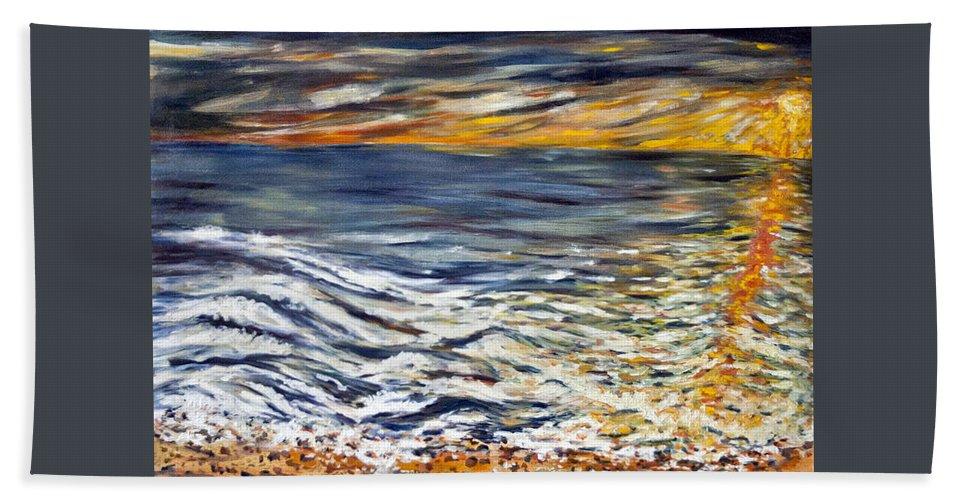 Landscape Hand Towel featuring the painting Priliv Meni Vse by Pablo de Choros