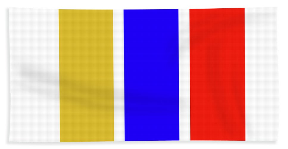 Primary Colors Bath Towel featuring the digital art Primary by Charles Stuart