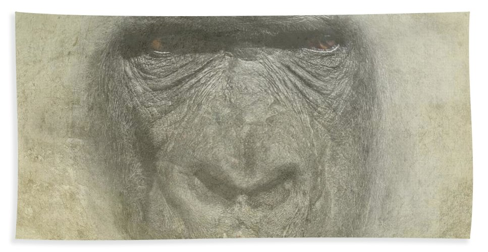 Primate Hand Towel featuring the photograph Primate by Movie Poster Prints