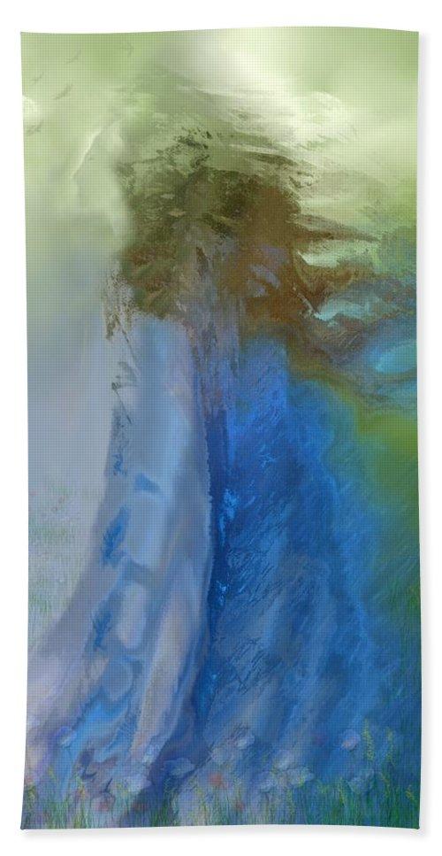 Digital Art Hand Towel featuring the digital art Primavera by Clare Iacobelli