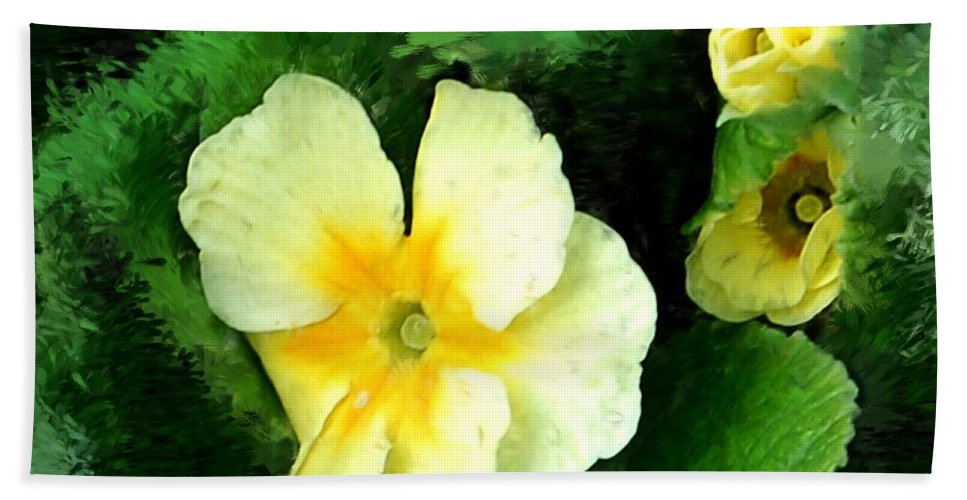 Digital Photograph Bath Towel featuring the photograph Primrose 2 by David Lane