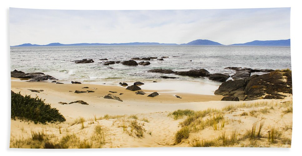 Pristine Hand Towel featuring the photograph Pristine Beach Background by Jorgo Photography - Wall Art Gallery