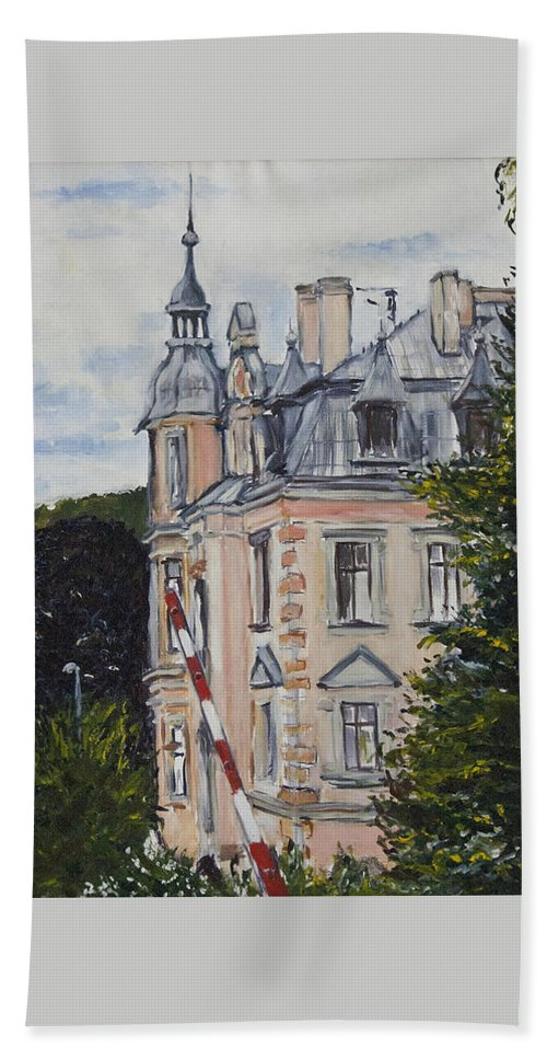 Landscape Hand Towel featuring the painting Pro Katcha by Pablo de Choros