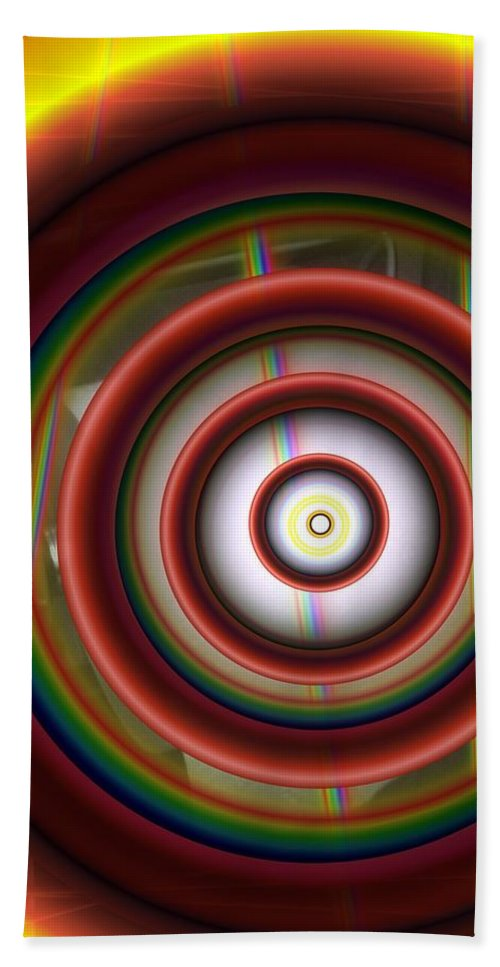 Abstract Bath Sheet featuring the digital art Progression 1 by Ron Bissett