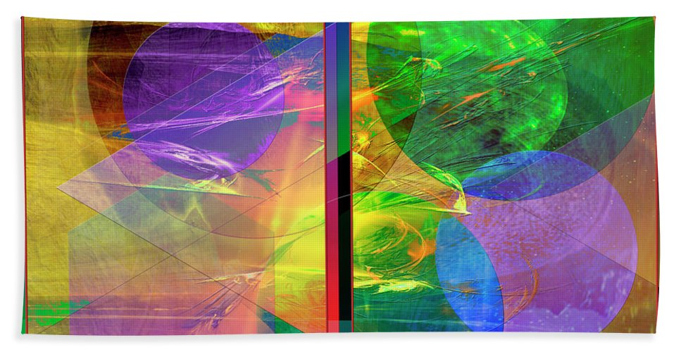 Progressive Intervention Bath Sheet featuring the digital art Progressive Intervention by John Beck