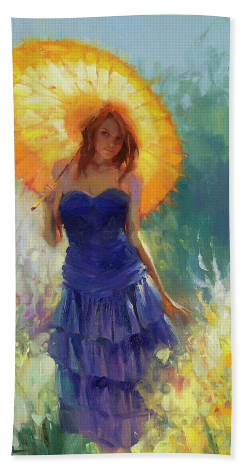 Woman Bath Towel featuring the painting Promenade by Steve Henderson